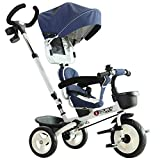 Best Baby Bike Strollers - HOMCOM 4-in-1 Baby Tricycle Stroller Kids Folding Trike Review