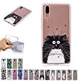 V-Ted Coque Apple iPhone XR Chat Totoro Silicone Ultra Fine Mince Bumper Housse Etui Cover Transparente avec Motif Dessin Antichoc Incassable