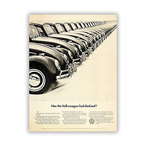 zgmtj NEUHEIT Modernes Auto Poster und Leinwanddruck Gemälde für Studie Dekor schwarz und weiß und abstrakt Quadro Enfant Zitat Vintage (Sport Auto Ausstecher)