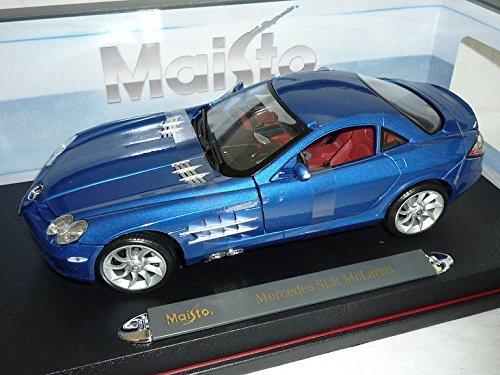 mercedes-benz-slr-mclaren-coupe-blau-2004-2009-1-18-maisto-modell-auto