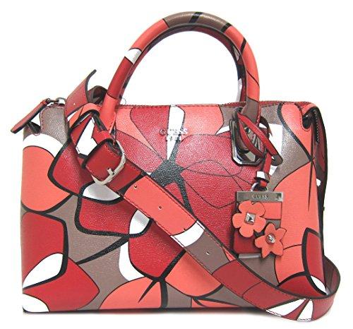Guess Liya Satchel handbag red multicolor