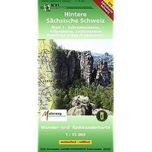Hintere Sächsische Schweiz Blatt 1 - Schrammsteine, Affensteine, Zschirnsteine: Wander- und Radwanderkarte 1:15000 GPS-fähig wetterfest, reißfest