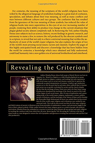Removing the Veil: Revealing the Criterion: Volume 1 (The Removing of the Veil)
