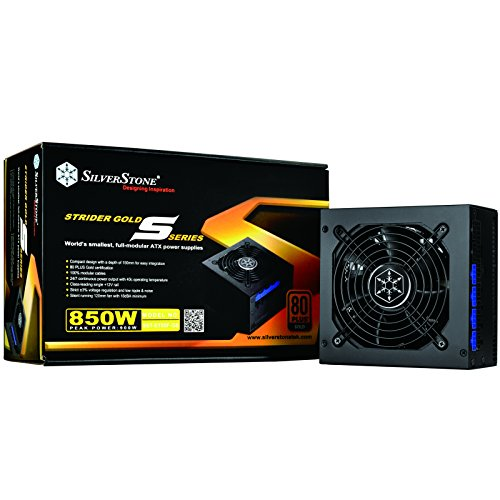 SilverStone SST-ST85F-GS v 1.1 - Alimentatore Strider serie Gold S, 850W 80 Plus Gold ATX, Low Noise 120mm, 100% modulare