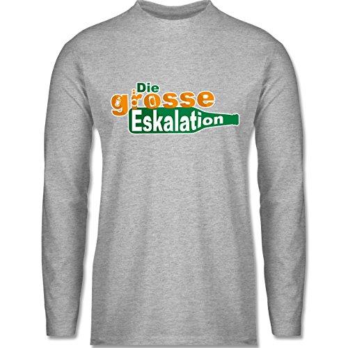 Festival - Die große Eskalation - Longsleeve / langärmeliges T-Shirt für Herren Grau Meliert
