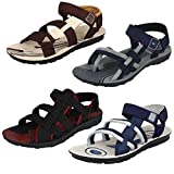 #1: Earton Men Combo Pack of 4 (Sandals & Floaters)