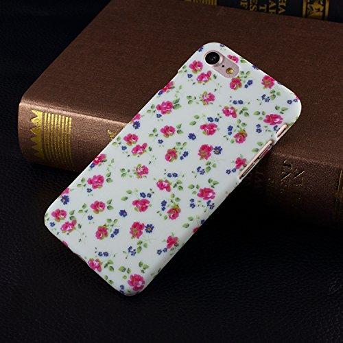 Neue Farbe Malerei Kleine Blumen-harten Plastikkasten-Abdeckung für IPhone 7 ( Color : D ) E