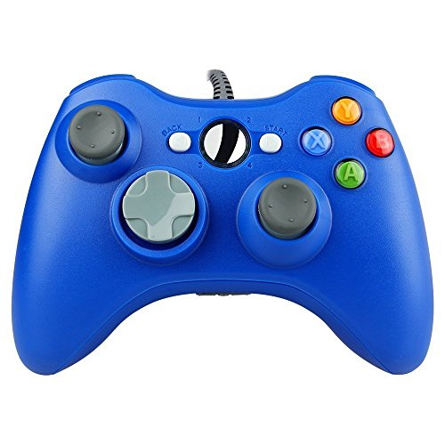 STOGA Xbox 360 Controller, Kabelgebundene USB Gamepad Controller für Microsoft Xbox 360 PC Windows7 XP-blau