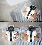 Yunko Lot de 100 sachets en plastique translucide pour biscuits, gâteaux, chocolats, bonbons, collations Idéal pour les fêtes, une boulangerie - Avec autocollants