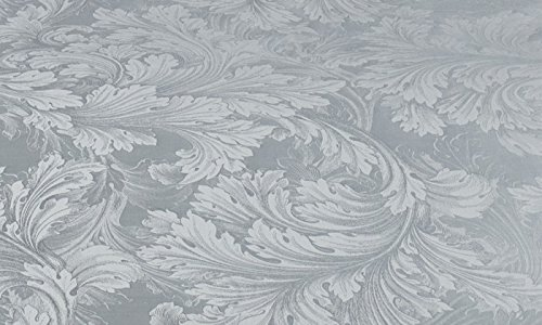 Curt Bauer Mako Brokat Damast Bettwäsche Akanthus Größe 140×200+70×90 cm Farbe 1071 Perlgrau