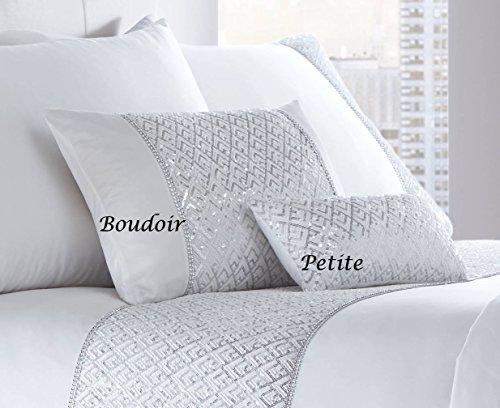 Luxuriöses Boudoir-Kissen, gefüllt, mit Glitzerpailletten, 32x50cm (Boudoir Kissen)