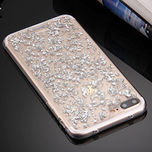 Hülle für iPhone 7 plus , Schutzhülle Für iPhone 7 Plus Streuung Platinum Muster TPU Schutzhülle ,hülle für iPhone 7 plus , case for iphone 7 plus ( Color : Silver ) Silver