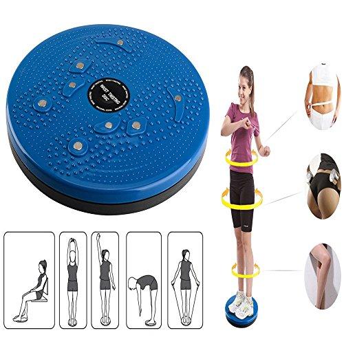 Twist Taille Torsionsscheibe Brett Aerobic-Übung Fitness Fußreflexzonenmassage Magnete Balance Board Fitnessausrüstung (Blau)