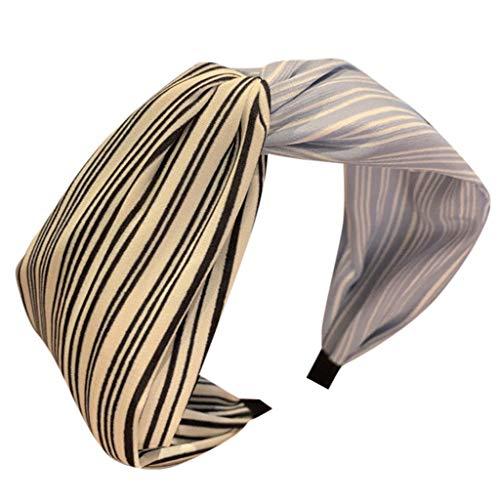 LILIHOT Stirnband Damen Haarband Kopfband Weich Turban Stirnband für Alltag Yoga Sport Fitness Frauen Farbabstimmung gestreiftes Stirnband Stirnband Kreuz Schal Stirnband