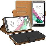 PREMIUM - Book-Style Case für - LG Optimus L7 II - P710 / 715 - Wallet Case Flip Cover Hüllen Schutzhülle Etui Hülle mit Standfunktion Schwarz