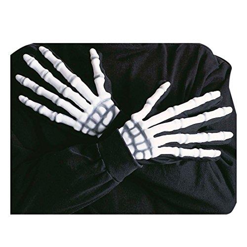 Halloween Handschuhe Skelett Zubehör Horror Hände Horrorhandschuhe Halloweenhandschuhe Halloweenhand Halloweenhände