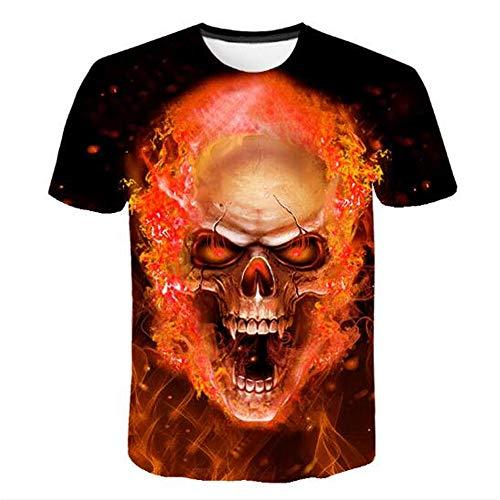 Männer Frühling Sommer Männer T-Shirts 3D Gedruckt Tier t-Shirt Kurzarm Lustige Design Casual Tops Tees Männlich,Gedruckt rot flammgelb 4XL -