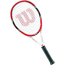 Wilson Federer Tour W/O Cvr Rkt 2 Racchetta da Tennis, Rosso/Grigio, 2 - Wilson Racket Sports