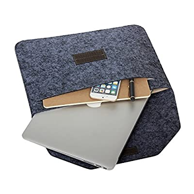 i-Buy Résistant à l'eau Microfibre PU cuir Laptop Sleeve Pochette Sacoche Housse pourr Macbook Air et MacBook Pro / MacBook Pro Retina 13.3 Inclus Sac pour la souris et l'adaptateur secteur