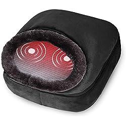 Snailax 3-en-1 Masseur de pieds chauffant et vibrant, massage du dos avec chaleur, coussin chauffant rapide et 5 modes de massage, réchauffe-pieds, soulager la douleur SL522V-FR