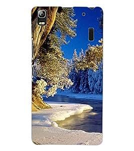 ColourCraft Bautiful Scenery Design Back Case Cover for LENOVO A7000 TURBO