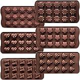 CNYMANY Lot de 6 moules à gâteaux en silicone anti-adhésifs pour la confection de bonbons, chocolats, muffins, cupcakes