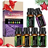 Ätherische Öle Geschenk Set, Skymore Neue Generation Aromatherapie Duftöl, 100% Natur Duftöle Aromaöle für Diffusor, Luftbefeuchter, Aromatherapie 6×10ml
