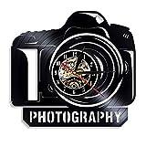 SSCLOCK Fotografia Orologio da Parete in Vinile Design Moderno Studio da Parete Arte Vintage Vinile Orologio da Parete Orologio da Parete Regali per Fotografo