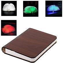 lampade libro USB ricaricabile pieghevole in legno