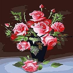 Fleur Peinture a l'huile Decoration My Love 40 * 50 (avec Boite)
