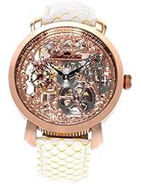 Lindberg & Sons Herren-reloj analógico de pulsera automático de cuero SK14H059