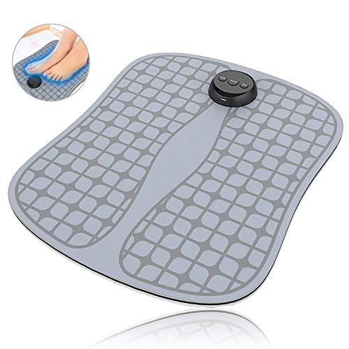 sakobs Fußmassagegerät, EMS Trainingsgerät Fußmatte der Elektrostimulation für Entspannung, Anregung des Blutkreislaufs, Muskeltraining /-Regeneration, via USB Aufladen, 2019 Neuest