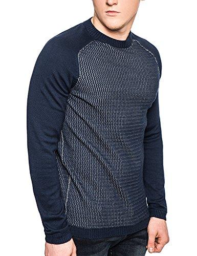 Solo & Sons Felpa Maglione Maglia Fine-Pullover da uomo, vari colori Blue X-Large