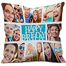 FACTORYWALA Personalized Micro Satin Cushion Cover with Filler (12x12-inch, White)