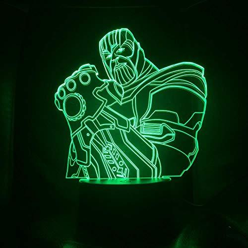 CYJQT 3D-Nachtlichter Kinder-Emotionslichter Kindernachtlichter Marvel Avengers Superheld Captain America Hulk Panthers Triathlet Spider-Man Led-Nachtlichter Für Kinder