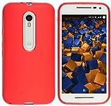 mumbi Schutzhülle Motorola Moto G (3. Generation) Hülle transparent rot