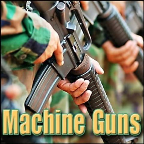 Machine Gun - Kalashnikov Ak-47, 7.62 X 39 Mm Automatic Rifle: 30 Round Burst, Close Perspective Machine Gun Firing
