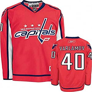 Reebok NHL Eishockey Trikot Jersey Premier Washington Capitals Sergei Varlamov #40 rot