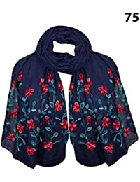 fdc6053d5c BOXO Fancy Cotton Embroidery Stoles for Women & Girls for Casual & Party  Use Multicolor 10