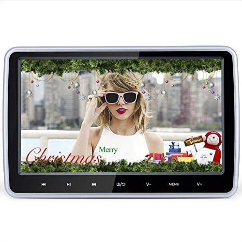 Preisvergleich Produktbild Kopfstütze DVD-Player, DDAUTO Ultra Thin Digital Screen Multimedia Player Raspberry Pi Monitor LCD Bildschirm Mit Doppelten Haltern Unterstützungen CPRM HDMI 10.1 Zoll Klavier Schwarz (DD1018D)