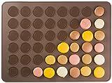 Andrew James  Antihaft-Makronen Silikon-Backmatte für 48 Makronen  Ideal für Plätzchen, Muffins, Mini-Windbeutel und Cupcakes