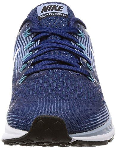 Nike Damen Air Zoom Pegasus 34 Laufschuhe Blau (Binary Blue/white-glacier Grey-cerulean)