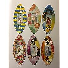 Marco de fotos tabla de surf imanes, elección de diseño, pequeño marco de fotos