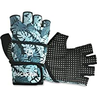 "CHICMODA Women's Men's Weight Lifting Gym Gloves with 18"" Wrist Wrap, Anti-Slip Sport Gloves with Padded Palm Support for Workout, Weightlifting, Fitness & Cross Training (1 Pair)"