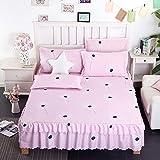 huyiming Verwendet für Einzelbettdecke Bett Rock einteiliges Bett Verdickung Schleifanlage Kaschmir 1,5/1,8m2m 150x200cm