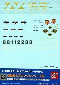 BANDAI Model Kit 34149-51596Gundam Decal 22-MG Multi Zeta