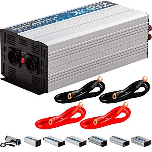 VOLTRONIC® MODIFIZIERTER Sinus Spannungswandler 3000W mit E-Kennzeichen, 12V auf 230V, 3 Jahre Garantie, Stromwandler Inverter Wechselrichter Auto PKW -