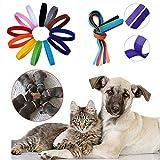 JSDL Puppy ID Bands Kragen, Wurfkiste Kragen Welpen PET Dog Kragen Einstellbar 12 Farben , Both-Side Flannelette
