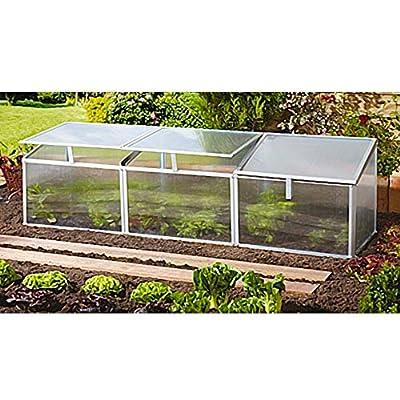Gaia 3X Frühbeet Mini-Gewächshaus Anzuchtbox 0,9 m² Hohlkammerplatten 4 mm von Vitavia Gewächshäuser bei Du und dein Garten