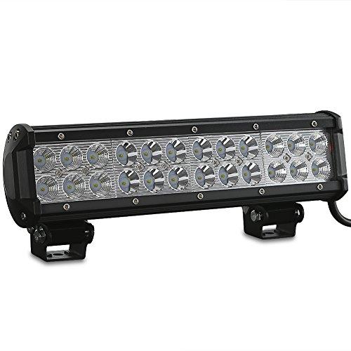 Rupse 72W LED Barre de Travail Phares étanche Longue Portée Led Projecteur pour Véhicule Tout-terrain Atv Jeep Bateaux SUV Camion Voiture